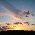 ファミマから日の出を望む